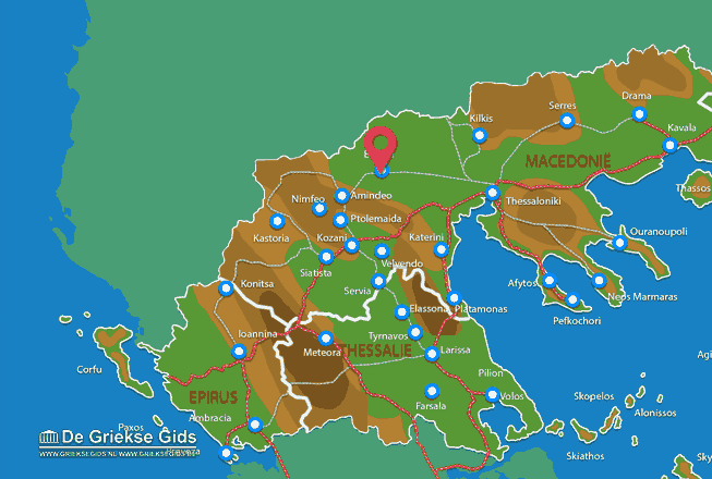 Map of Edessa