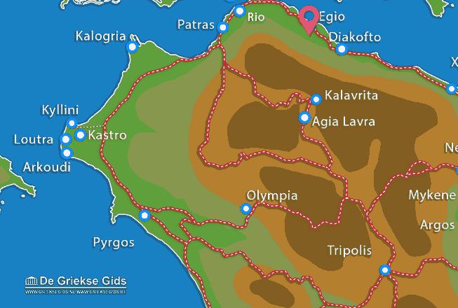 Map of Egio
