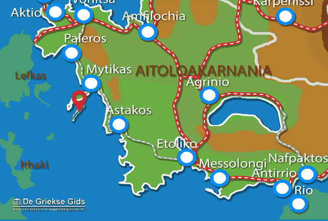 Map of Kastos (island)