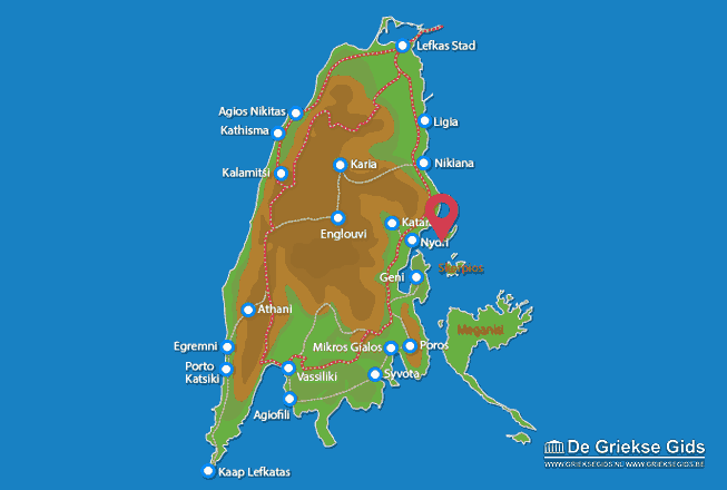 Map of Madouri (island)