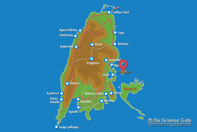 Map of Skorpios (island)