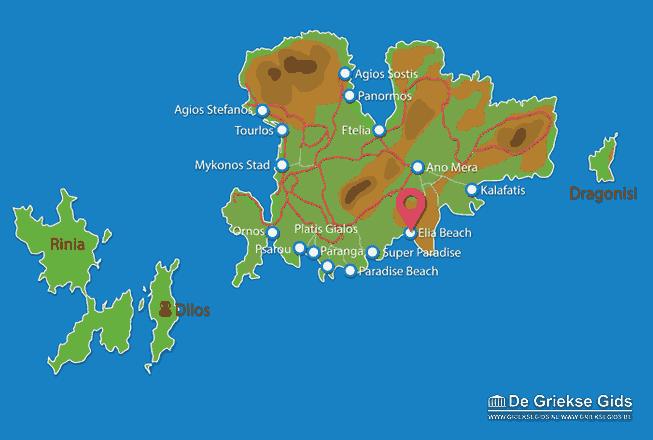 Map of Elia beach