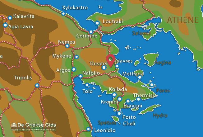 Map of Epidavros