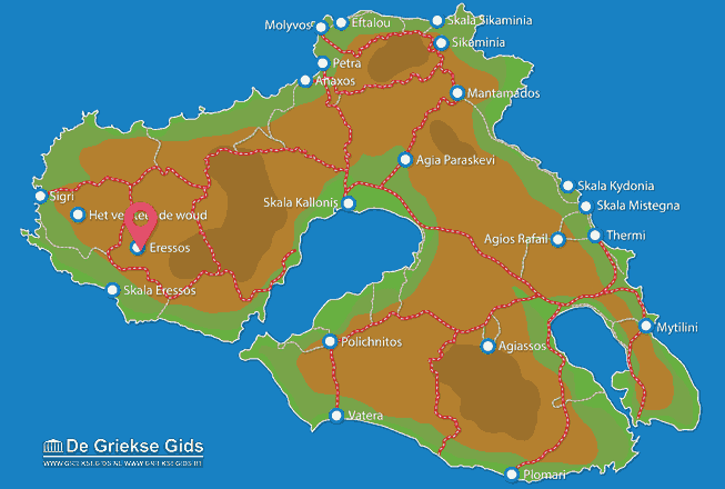 Map of Skala Eressos