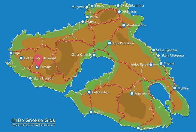 Map of Skala Eressos