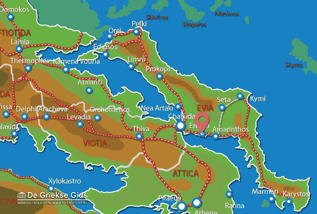Map of Eretria