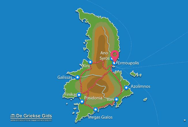 Map of Ermoupolis