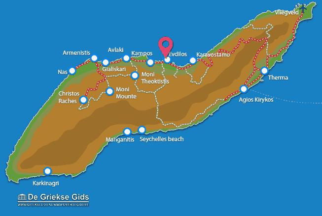 Map of Evdilos