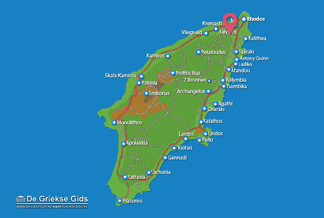 Map of Filerimos
