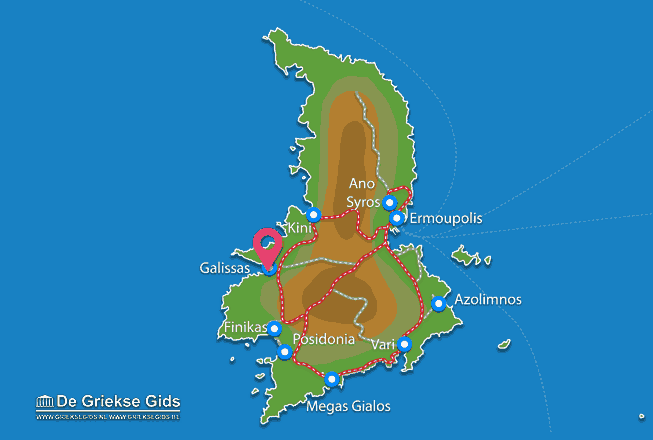 Map of Galissas