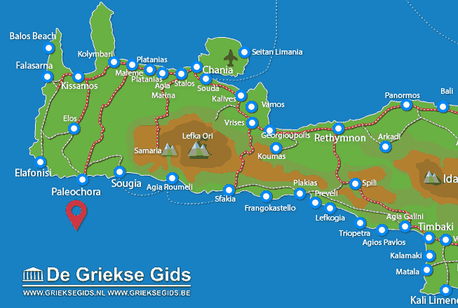 Map of Gavdos
