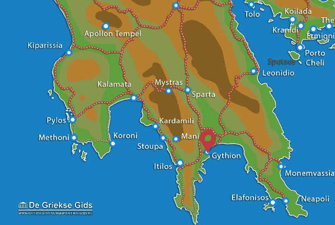 Map of Gythio
