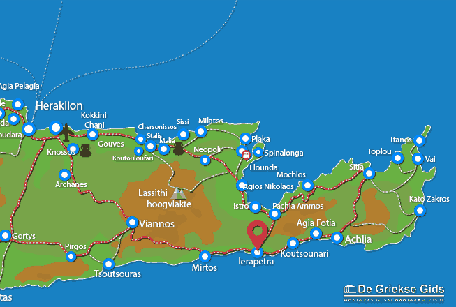 Map of Ierapetra