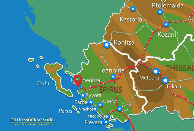 Map of Igoumenitsa