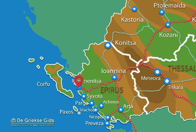 Map of Igoumenitsa