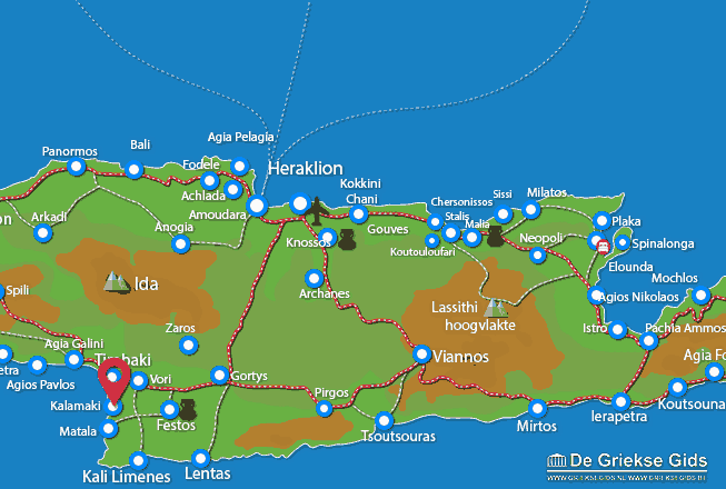 Map of Kalamaki