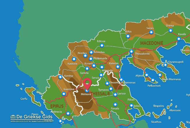 Map of Kalambaka