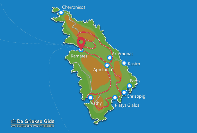Map of Kamares