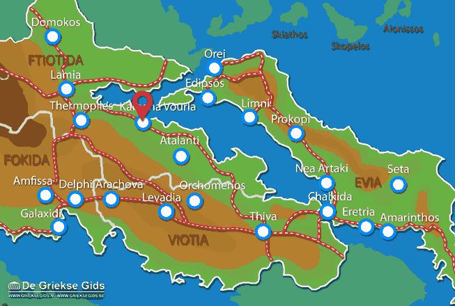 Map of Kamena Vourla