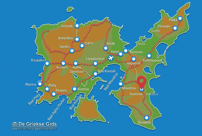 Map of Kaminia