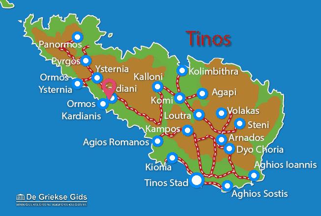 Map of Kardiani