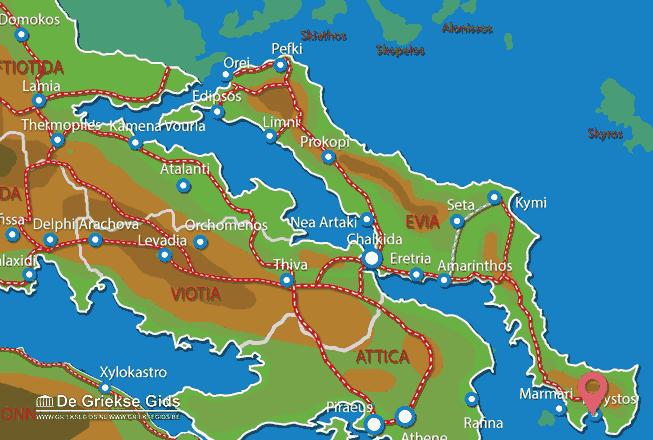 Map of Karystos