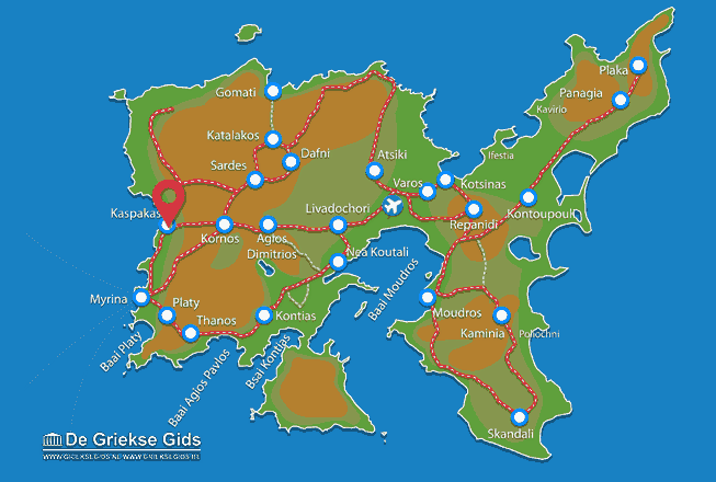 Map of Kaspakas