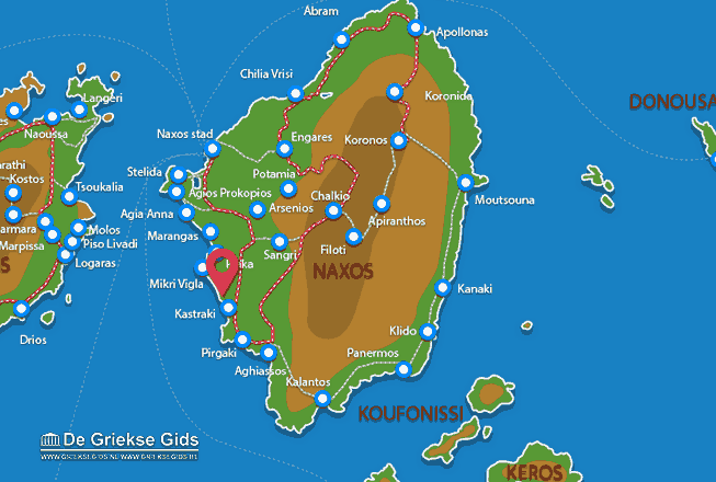 Map of Kastraki-Mikri Vigla
