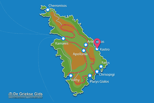 Map of Kastro