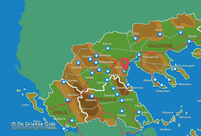 Map of Katerini