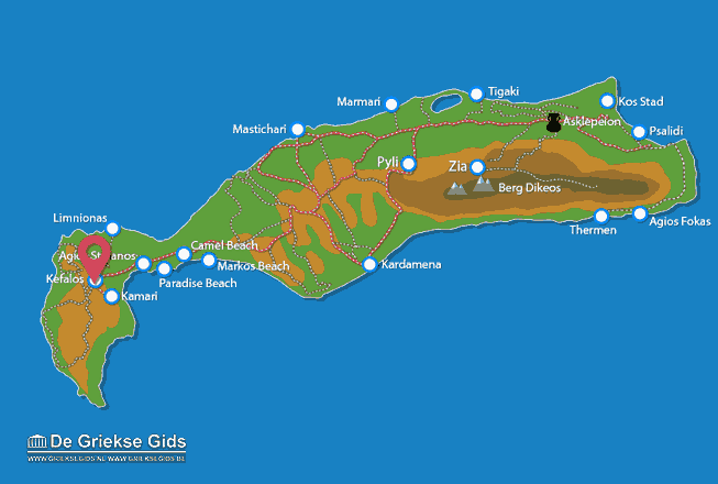 Map of Kefalos