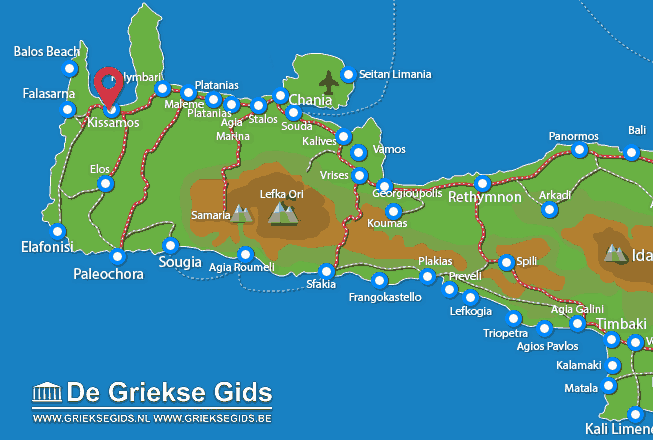 Map of Kissamos
