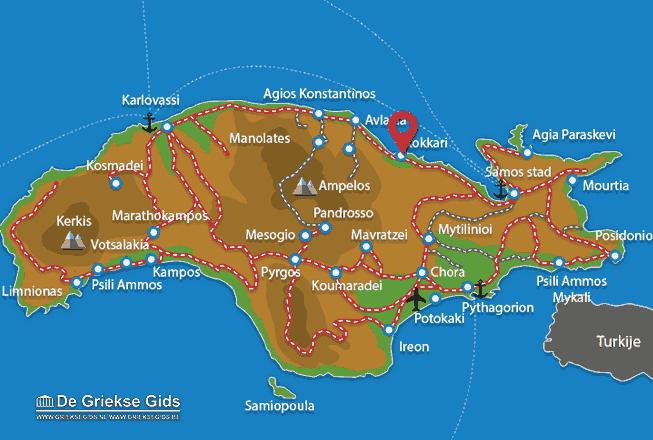 Map of Kokkari