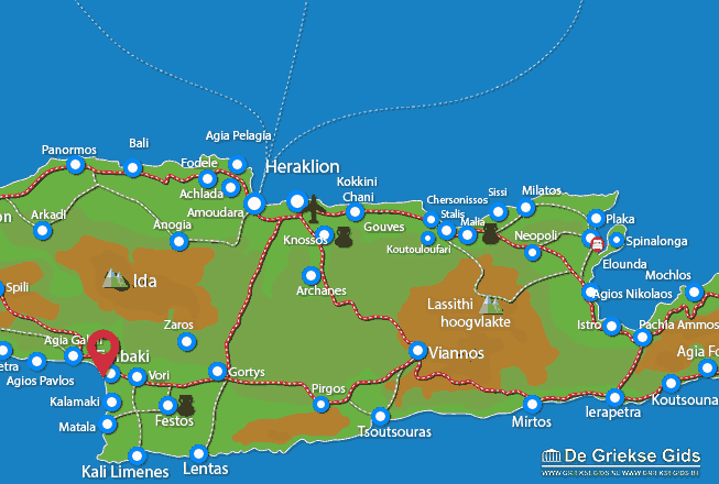 Map of Kokkinos Pyrgos