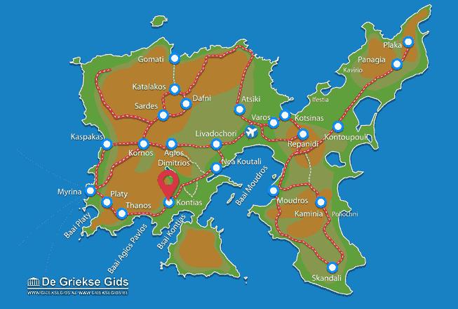 Map of Kontias