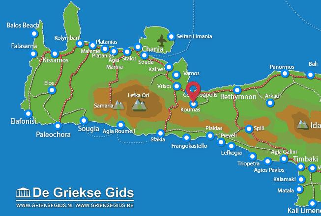 Map of Kournas