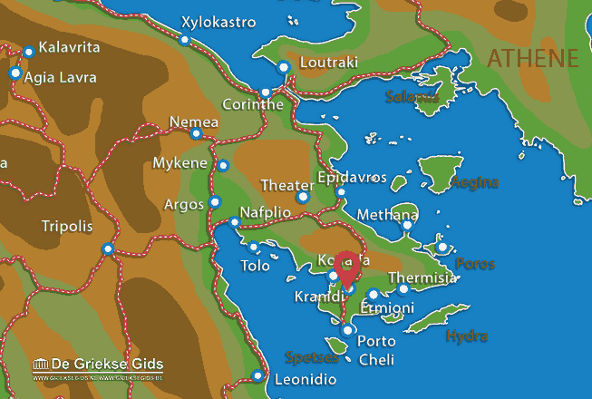 Map of Kranidi
