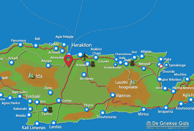Map of Krousonas