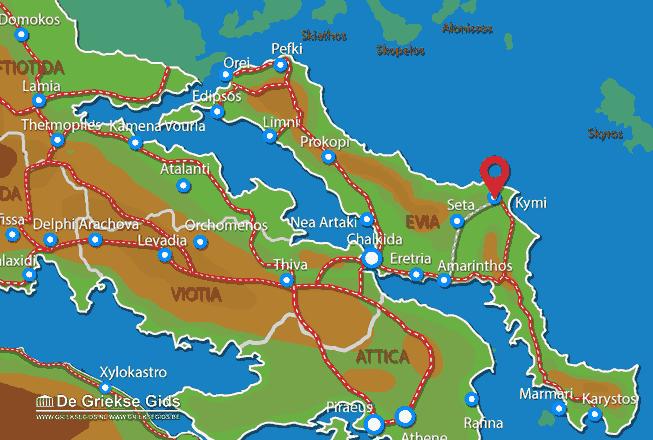 Map of Kymi