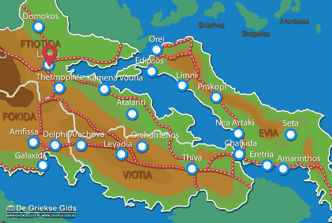 Map of Lamia