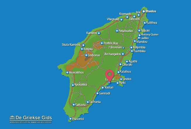 Map of Lardos