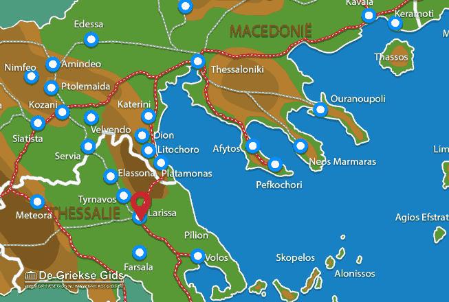 Map of Larissa city