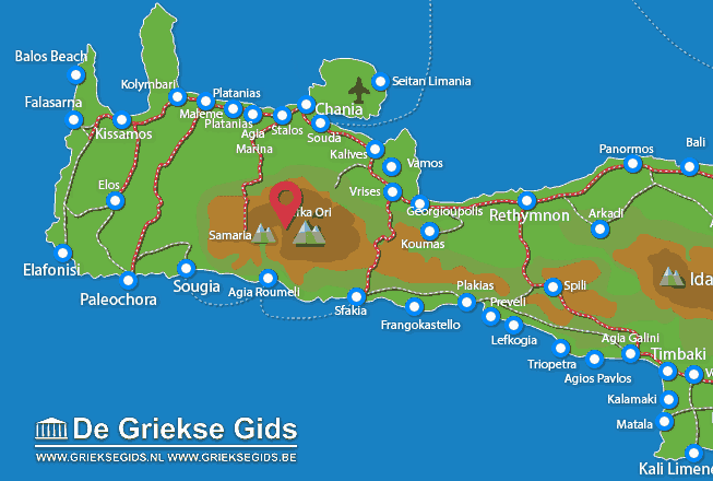 Map of Lefka Ori