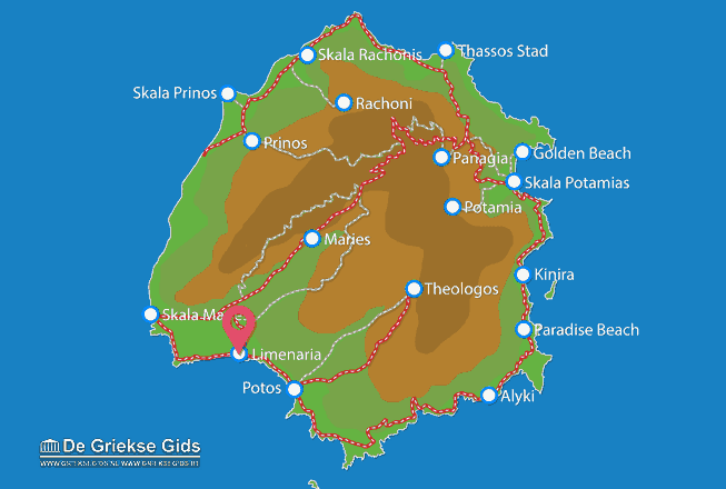 Map of Limenaria