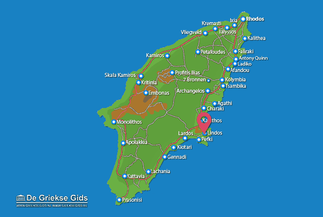 Map of Lindos