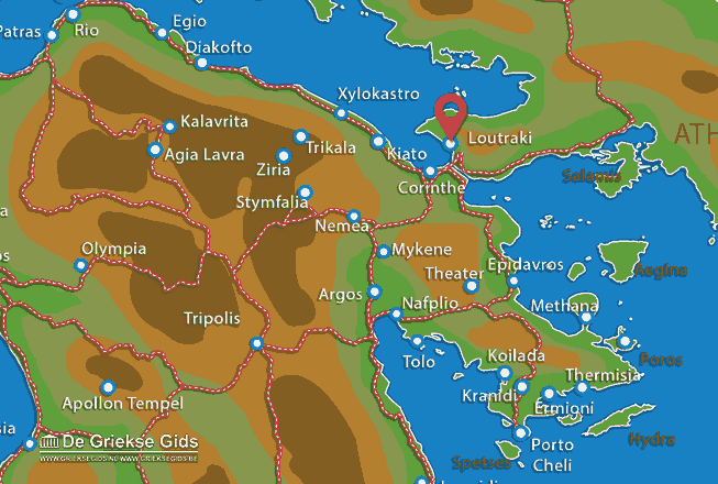 Map of Loutraki