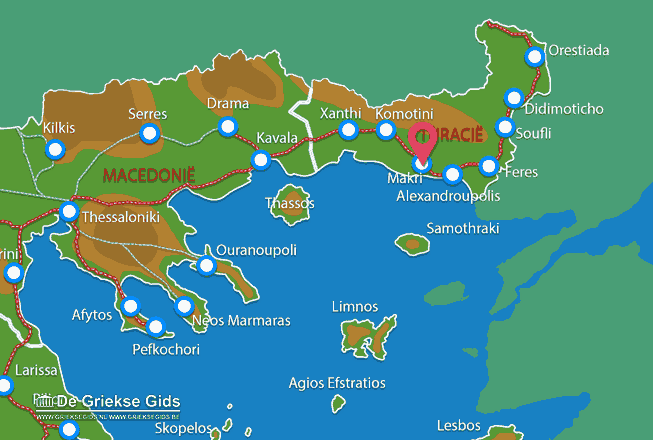 Map of Makri