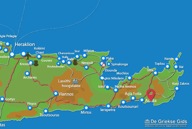 Map of Makrigialos
