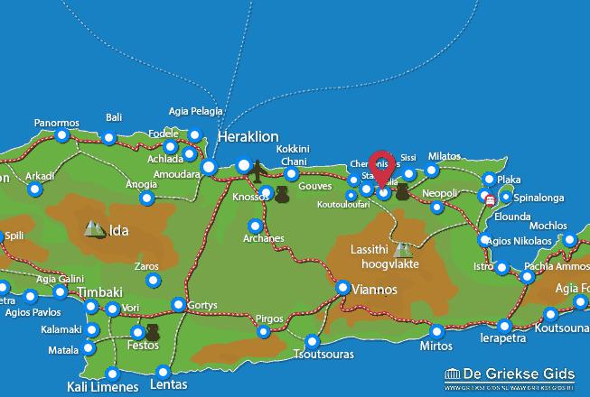 Map of Malia