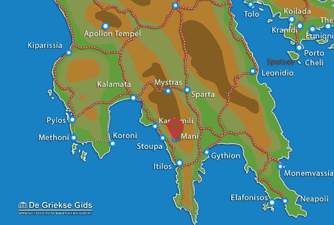Map of Mani